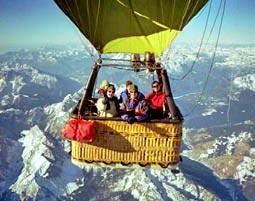 Alpen�berquerung im Hei�luftballon
