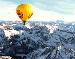 Alpen-Panorama im Hei�luftballon